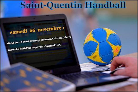 Programme du week-end des 26 et 27 novembre 2016