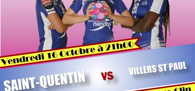 N3 : Report SQHB Féminines N3 contre Villers St Paul